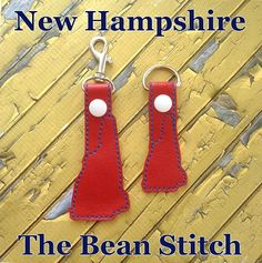New Hampshire - Includes Sizes! Kam Snaps, Glitter Vinyl, Tbs, Key Fobs, Hampshire, Machine Embroidery Designs, Free Design, Geek Stuff, Felt