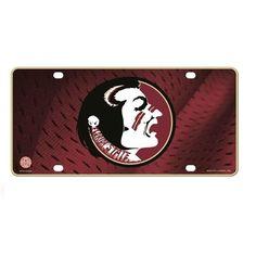 Florida State Seminoles Metal License Plate Tag #RicoIndustries #FloridaStateSeminoles  #GoNoles #FSU #JockUniversity
