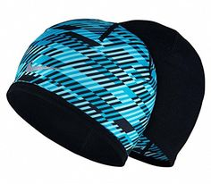 ace3b33e742 Nike Mens Run Hazard Beanie Blue LagoonBlackReflective Silver One Size     Want to know more