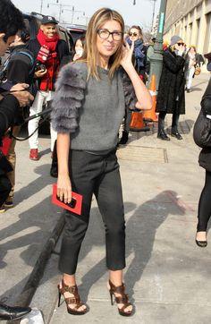 Nina Garcia adorably chic at NYFW