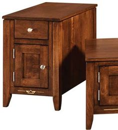 Amish Outlet Store : Canola Skinny End Table in Oak