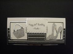 Sizzix shoes and handbag dies card