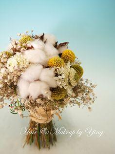 cotton bouquet w other wild weeds