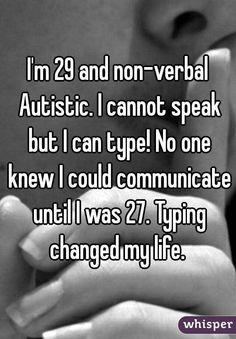 Whisper App. Confessions from people affected by autism.