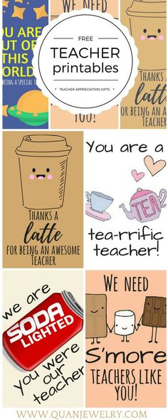 Teacher appreciation thank you cards and gift tags Teacher Treats, Teacher Cards, Appreciation Thank You, Teacher Appreciation Week, Principal Appreciation, Employee Appreciation, Printables Organizational, Thanks Teacher, Thank You For Teachers