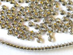 Silver Plate Bicone 4mm Beads 200 by wimsy on Etsy (Craft Supplies & Tools, Jewelry & Beading Supplies, Beads, silver spacer beads, silver beads, silver bicone beads, 4mm silver beads, 200 silver beads, wimsy)