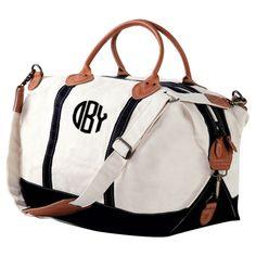 Nantasket Personalized Overnight Bag in Black