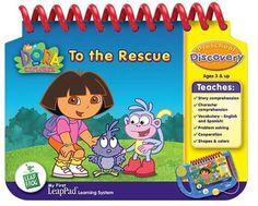 LeapFrog My First LeapPad Educational Book: Dora The Explorer To the Rescue Dora the Explorer http://www.amazon.com/dp/B00006FDLT/ref=cm_sw_r_pi_dp_OZbXvb09D2N1Q