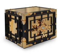 Luxury Home Furnishing: Boca do Lobo's Knox Safe  luxury jewelry home safe, luxury home safe, luxury watch winder, luxury safe box, luxury watch safes, hyper luxury design