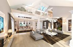 Rezydencja Parkowa 3 on Behance Precast Concrete, Concrete Wall, Home Design Floor Plans, My House Plans, Luxury Homes, Cool Designs, New Homes, Loft, Construction