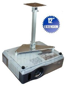 """PCMD All-Metal Projector Ceiling Mount with 12"""" Extension for Hitachi CP-X3015WN by PCMD, LLC.. $78.95. Projector ceiling mounts from PCMD, LLC. offers the consumer a quality ceiling mount at closeout prices. This projector ceiling mount can be rotated 360°, and pitched and rolled in any direction. The mounting plate is CNC machined for precise fitment and made from 6061-T6 aircraft grade aluminum. Unlike universal ceiling mounts, our projector ceiling mounts are s..."""