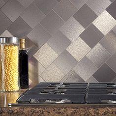 Aspect Stainless Peel and Stick Tiles (6.2 square feet) | Overstock.com Shopping - The Best Deals on Backsplash Tiles