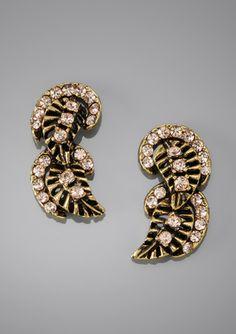 YOCHI DESIGNS Fanned Earrings