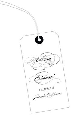 Perfectly Scripted Vertical Hanging Gift Tags