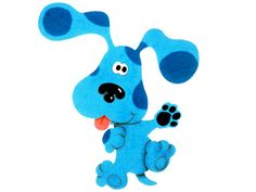 Blues Clues picture waving with paw up