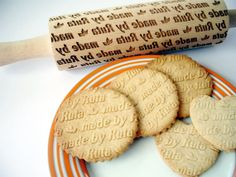 How cool is this!!!! Personalized embossing Rolling Pin made by.....  by AlgisCrafts, $44.70