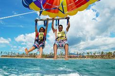 Happy Guests enjoying parasailing with us! 100% Fun in Fiji