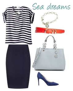 """""""Casual office look"""" by victoria-belogurova on Polyvore featuring MICHAEL Michael Kors, Reiss, Brooks Brothers, Tiffany & Co. and Casadei"""