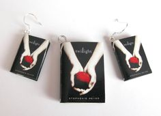 Twilight Saga Book Pendant and Earrings  edward by DevilishDesigns, $23.00- i must have this! i have to!