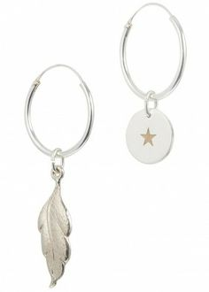 Mismatched hoop earrings
