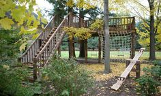 install zip line structure backyard - Google Search