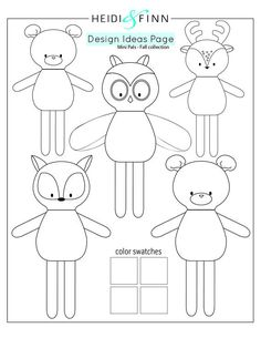 NEW Mini Pals Fall collection rag doll animal sewing patternYou can find Rag dolls and more on our website.NEW Mini Pals Fall collection rag doll animal sewing pattern Animal Sewing Patterns, Doll Patterns, Crochet Patterns, Craft Patterns, Sewing Stuffed Animals, Stuffed Animal Patterns, Softies, Plushies, Fabric Toys