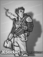 JEStockArt - Fantasy - Alchemist Youth with Book - GNB
