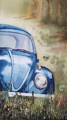 trucks and cars Car Painting, Painting & Drawing, Art Sketches, Art Drawings, Love Art, Painting Inspiration, Watercolor Paintings, Art Projects, Canvas Art