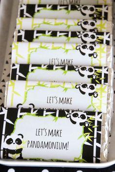 "Padamonium candy bar wrappers from Panda Bear ""Panda-monium"" Birthday Party here…"