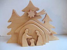 Krippen - Krippe Holzkrippe Erle geölt - ein Designerstück von AltePosthalterei bei DaWanda