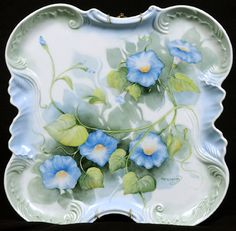 Morning Glories on Porcelain by CLTonning
