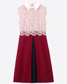 Valentino Online Boutique - Valentino Women Dress In Crepe Couture And Heavy Lace