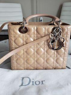 Authentic Christian Dior Lady Dior Cannage 2way Hand Bag Black AK16511a    eBay b532143aaa