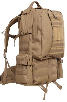 """Coyote Brown 3-Day Global Assault Pack 25"""" Tactical MOLLE Outdoor Gear Bag"""