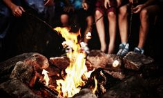 No where we would rather be, than roasting marshmallows over the fire!