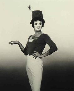 Marcel Marceau. S) I loved Mimes ! Are they a lost art now ? I think so.