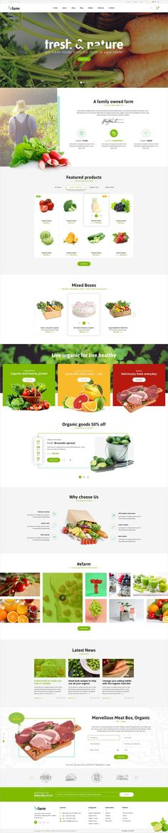 eFarm is modern and new #UI, UX graphic trend #PSD template for #farm, food company or organic shops eCommerce website with 21+ layered PSD files download now➩ https://themeforest.net/item/efarm-a-modern-psd-template/19728914?ref=Datasata