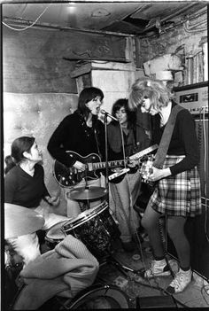 The Raincoats rehersing in their West London squat, London, 1979, by Janette Beckman ...