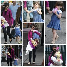 Actress - atriz - actriz - hair - cabelo - pelo - eye - olho - ojo - beautiful - bonita - hermoso - moda - look - style - estilo - inspiration - inspiração - inspiración - fashion - elegant - elegante - casual - dress - vestido - Juicy Couture - blue - azul - Gold Shoes - Bonpoint - sapato dourado - kid - child - criança - niña - menina - girl - Princess - princesa - baby - bebê - daughter - filha - hija - mother - mãe - madre - mom - mamãe - mamá - October - 2008 - Katie Holmes - Suri…