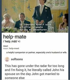 """Not really calling him his spouse, he just meant it in a """"oh he's my helpful partner/friend"""""""