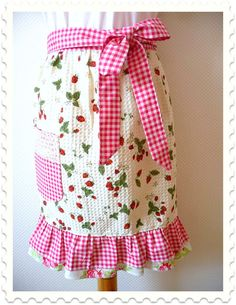 #DIY retro chic tea towel apron