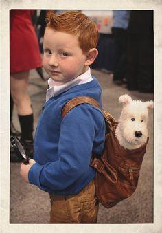 Tintin - Quand les enfants se déguisent pour Halloween
