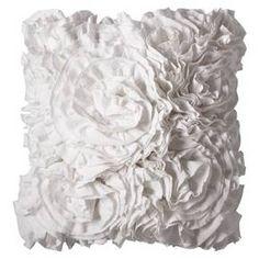 "Gives me ideas for purse embellishment !Xhilaration™ Jersey Ruffle Decorative Pillow - Sour Cream (16x16"") : Target"