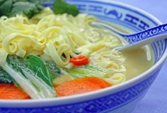 So comforting, creamy, nutritious and fun to eat, this vegan Thai Vegetable Coconut Soup with Noodles is sure to become an all-time favorite.