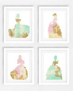 Disney princess nursery Girls room Princess picture by EllowDee