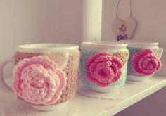Resultado de imagen para fundas de tazas  con crochet