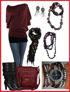 Accessorized look using Manhattan earrings, Wild-At-Heart and Arabian-Nights necklaces layered, Caviar watch with Wrap-It necklace arm party