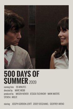 Alternative Minimalist Movie / Show Polaroid Poster – 500 days of Summer Iconic Movie Posters, Minimal Movie Posters, Iconic Movies, Old Movies, Film Posters, Minimal Poster, Vintage Movies, Image Emotion, Film Movie