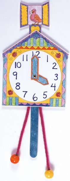 Students create cuckoo-clocks for time-telling adventures! #math #time #ArtProject