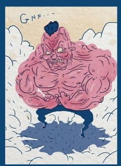 Mister muscle by Matzee La fleche, via Behance